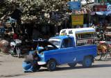 Mandalay - Baby Taxi - Myanmar-built Mazda B360