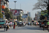 Bayintnaung Road eastbound towards the Clock Tower