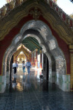 Mirrored entrance corridor leading to the center of Kuthodaw Paya