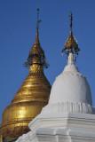 Kuthodaw Paya's 57m golden stupa, Mandalay