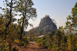 Mt Popa - the remains of an ancient volcano 45 km southeast of Bagan