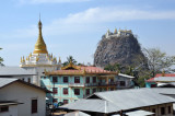 Village of Mt Popa with Popa Taung Kalat Monatery