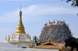 Stupa with the summit of Popa Taung Kalat