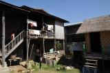 Yard behind the restaurant, Nyaung Shwe