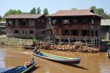 Boat on the Nan Chaung Canal at Nyaung Shwe