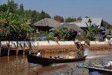 Boat typical of Inle Lake on the Nan Chaung Canal, Nyaung Shwe