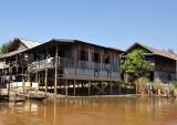 Stilt houses, Nan Chaung Canal, Nyaung Shwe
