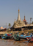 Pagoda by the Nan Chaung Canal, Nyaung Shwe