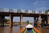 Passing under the Yone Gyi Road Bridge, Nyaung Shwe