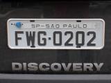 Brazilian license plate - São Paulo