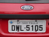 Brazilian license plate - São Paulo SP