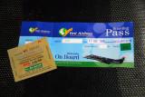 Yeti Airlines boarding pass and Kathmandu airport tax receipt
