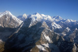 Himalaya west of Everest - Karyolung (6511m/22,825ft) with Cho-oyu (8201m/26,906ft) in the distance