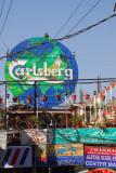Carlsberg sign landmark, Thamal, Kathmandu