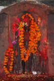 Flower draped temple image, Patan