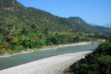 Trisula River at the Manakamana cable car base station