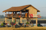 Sunset View Restaurant & Bar along the riverfront, Sauraha
