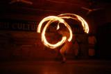 Fire dance, Tharu Culture Programme, Sauraha