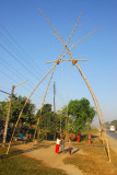 A swing set up for a local festival, Sauraha Chowk (Tandi Bazaar)