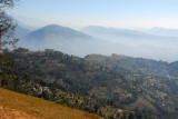 View east over the terraced hillside of Sarangkot