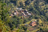 Farm houses and small villages on the southern face of Sarangkot