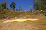 Paraglider launch site, Sarangkot, Nepal