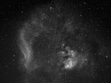 NGC 7822  et Cederblad 214 en hydrogène alpha