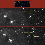 NGC 1555 et un planétoïde