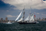 Young Endeavour in tallships race