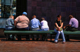 Bench with people at Circular Quay