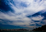 Cirrus clouds with Sydney backdrop