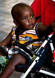 African child in stroller