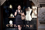 Female in front of shop in Martin Place