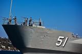HMAS Kanimbla on manouevres - it would appear!