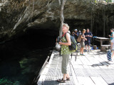 Julie at the Cenote entrance