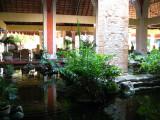 Fish pond inside the resort