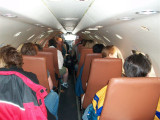 inside the plane, I'm on the very back row
