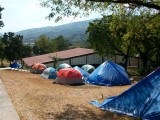 tents above the tabernacle