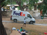 Fri, only took this one picture of a FedEx delivers  (took for my nephew, he works for them)