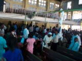all pics taken after church service was over (people leaving)