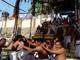 Parthasarathi getting down to theppam.jpg