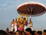 Parthasarathi awaiting to enter the beach.jpg