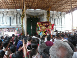 Doors are closed by ubaya naachiyars when perumal tries to enter temple.JPG
