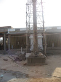 dwaja sthambam renovatin under progress.jpg