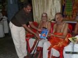 13-Sri Jeyaraman releasing book republished by Dr VVR swamy.JPG