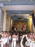 05-Parthasarathi in dharmAdhipeetam starts from the vahana mandapam.JPG