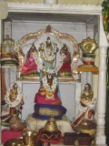 Sannidhi of Sri Bhoo Devi samedha Srinivasar,Ananth alwan in Left. Udayvar in middle and Madhurakavi alwar in right