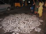 Day-8-Evening-Opavar illa mAdar pOdum Kolam for welcoming parthasarathi-2.JPG
