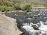 Dip in the Shoshone River