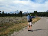 Hitching near Jackson Wyoming